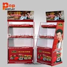 customized floor retail cardboard display stand chocolate