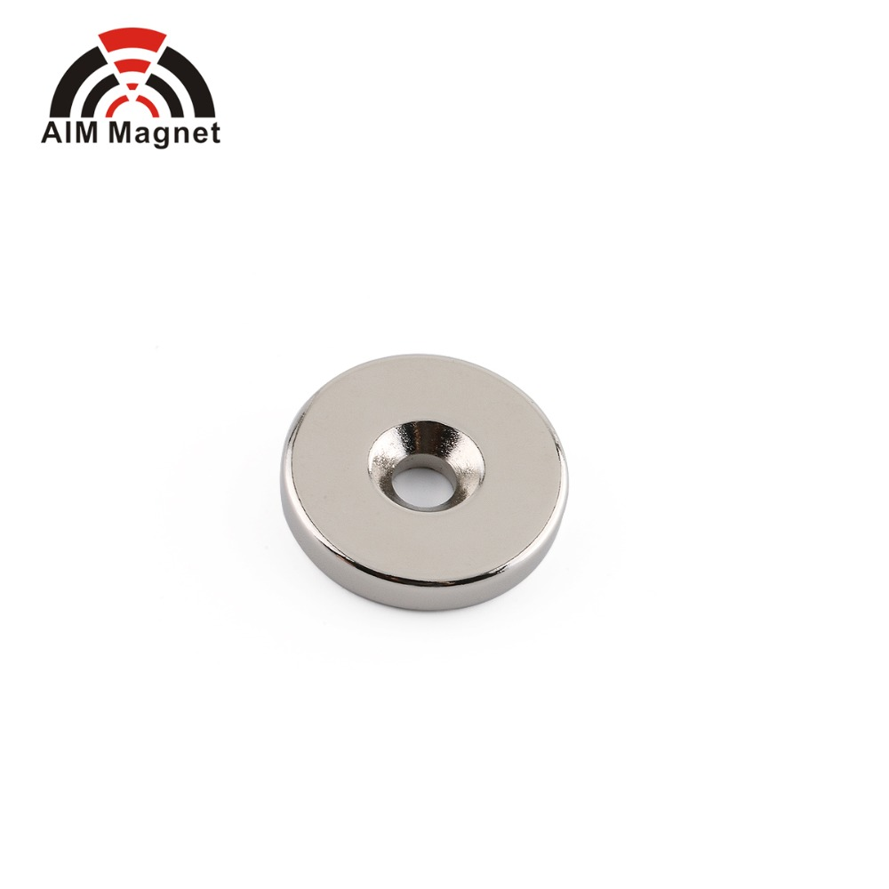 D12XD4/D8X4mm Ni coated disc magnet with countersunk <strong>hole</strong>