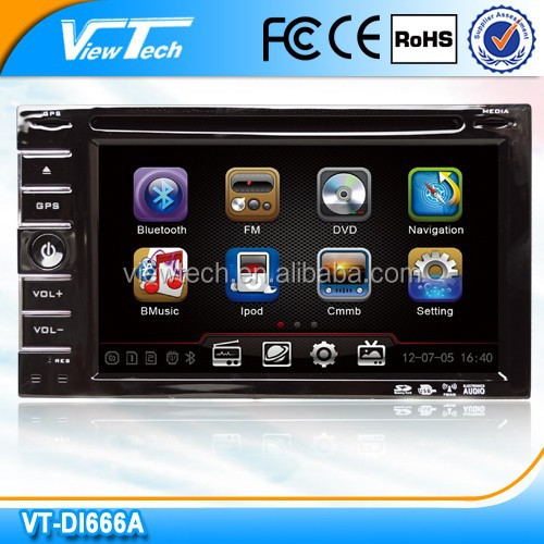 6.2 inch HD Touch Screen 2 DIN Car DVD GPS with Bluetooth MP3/4