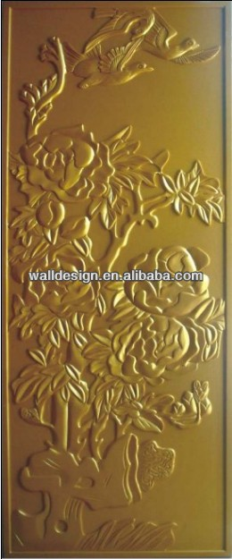 interior decoration & hand-made 3d wall board in gold color,european style