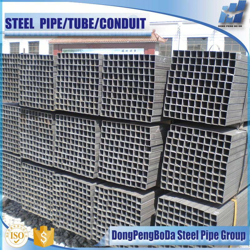 hot selling black welded steel tube and steel hollow section for truck