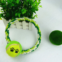 Hot sale wholesale recycled non toxic braided rope branded dog collar toy