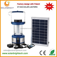 Solarbright with USB charger FM radio emergency portable solar powered camping 6V battery multifunction lantern