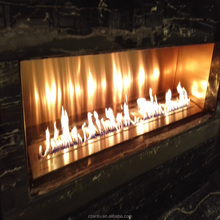 insert stainless steel intelligent ethanol fireplace with real flame to warm your house, sitting room and bedroom