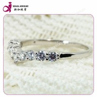 Sample brass & sliver setting cubic zirconia jewelry ring model king and queen ring jewelry