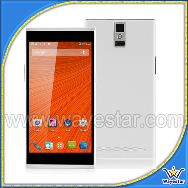 5.5 inch MTK6582 Quad Core 1GB RAM 8GB ROM 5.0MP Camera Dual SIM 3G WCDMA Android Smart Phone Mobile D1000