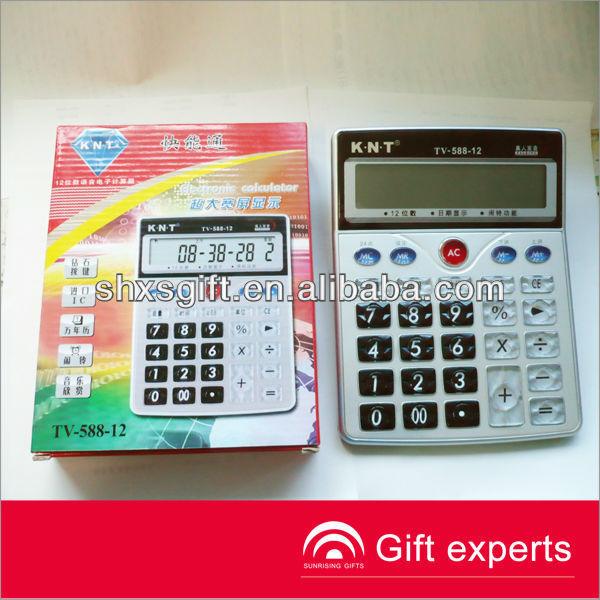 Promotional transparet crystal buttons Calculator ,fancy calculator