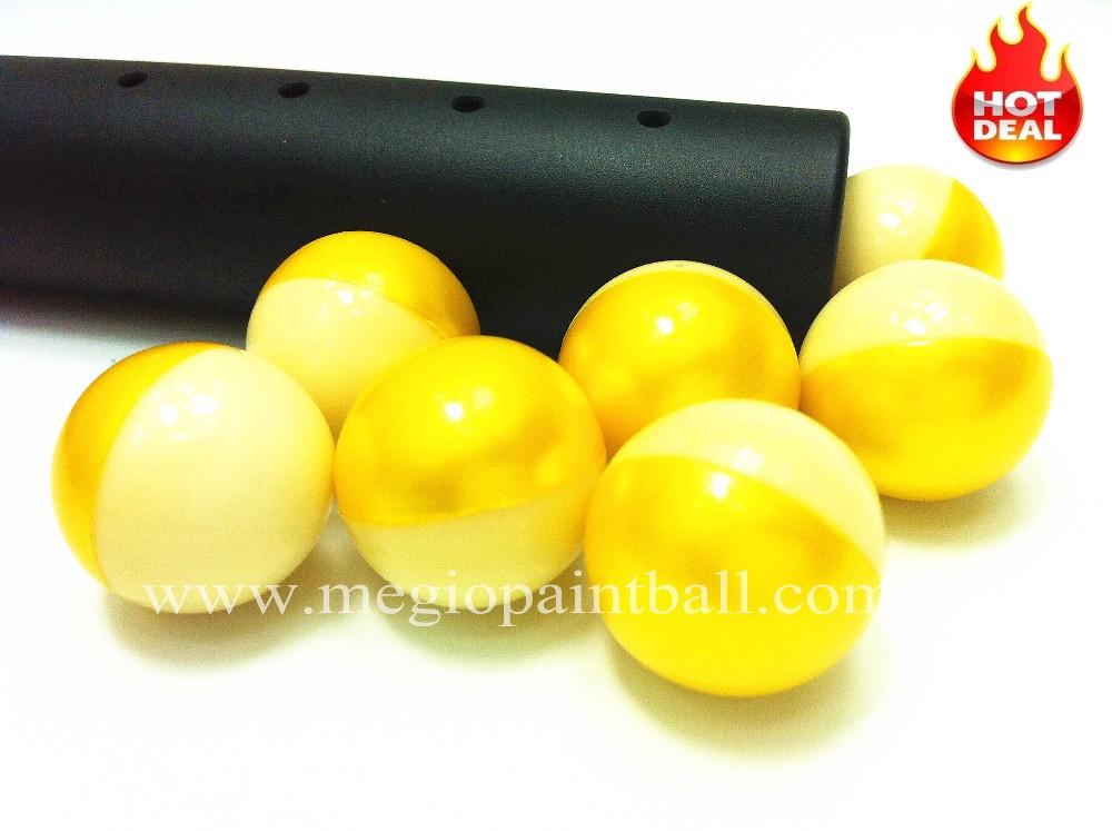 megio Advanced Grade Paintball Metallic Yellow White Dual color Shell