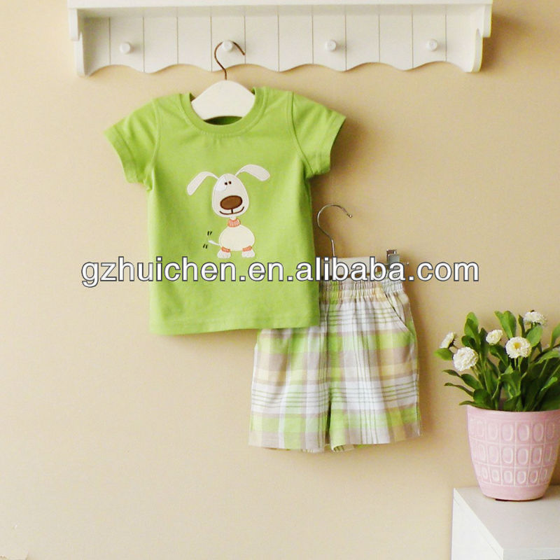 mom and bab 2013 baby wear 100% cotton boy summer sets