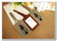 Hot Sale Customized Fancy Travel PU Leather Luggage Tag/luggage cover/ baggage tag