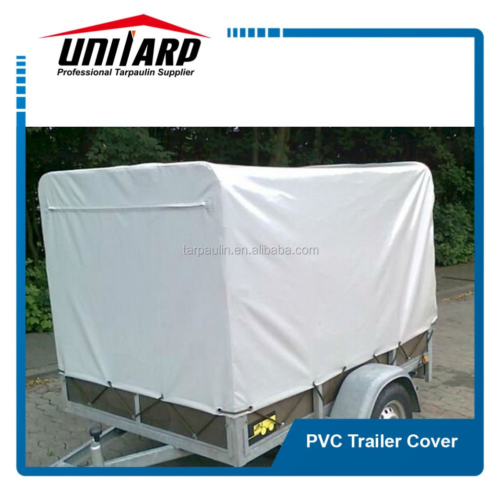 PVC fabric custom vinyl trailer cover and trailer cage cover