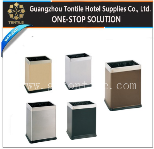 Wholesale decorative waste bins/wooden waste bin/hotel room waste bin
