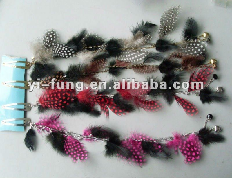 new trendy feather hair extension/hair clip