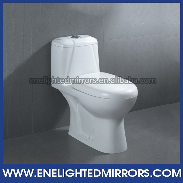 Ceramic S-trap Siphonic double hole one piece toilet