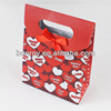 Small gift packaging bag with silk ribbon
