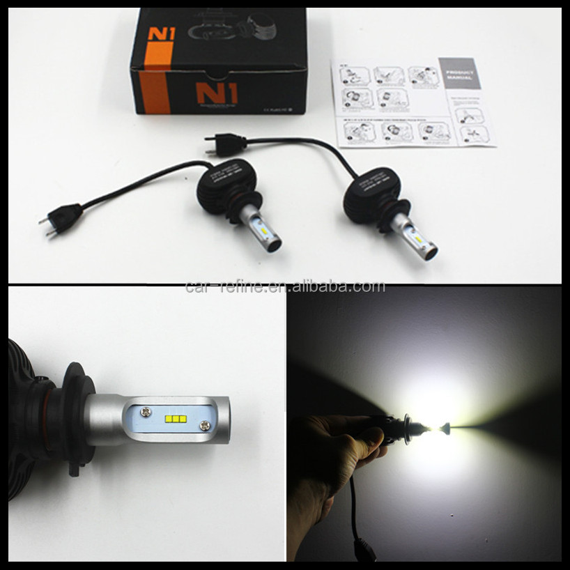 ALL-In-ONE DRL H4 H7 LED headlight lamp H4 Hi/Lo car auto LED headlight bulbs LED headlight auto head lights