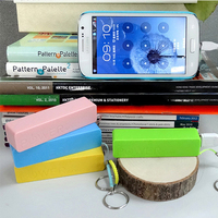 2000mah 18650 Li battery cell gift plastic power bank portable charger bank for mobile phone ipad laptop
