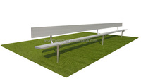 Ango Cost-effective Portable Bleacher, Hot-galvanized steel Bench, Single row Bleacher with backrest