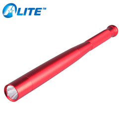 Self Defense Baton Flexible Police Security Warning Red Baseball Bat Flashlight