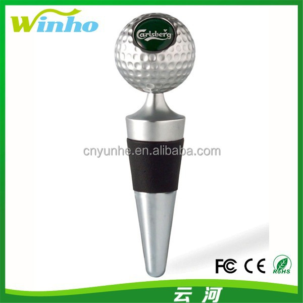 Winho Golf Ball Wine Stoppers with Laser Logo