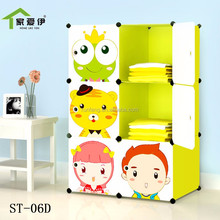 6-9 cubes DIY Portable cartoon plastic green storage cubes cabinet