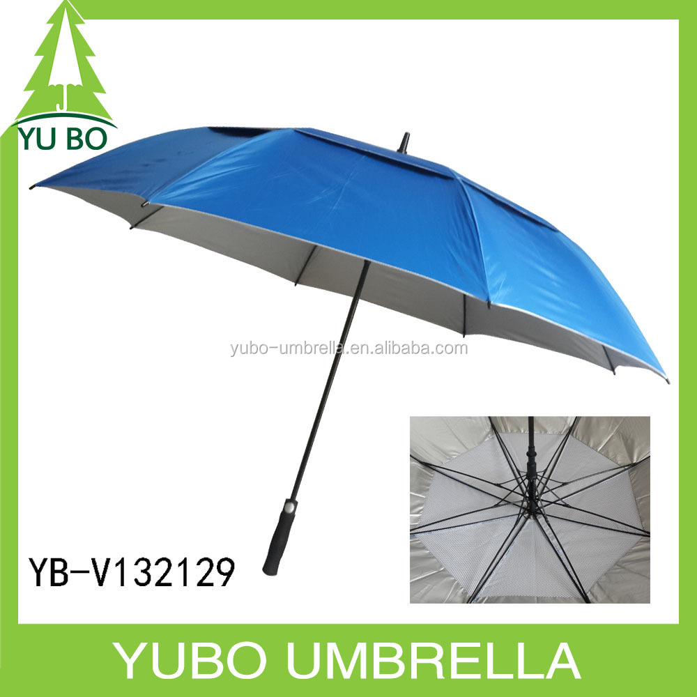 Chinese wholesale big size double golf umbrella for two persons