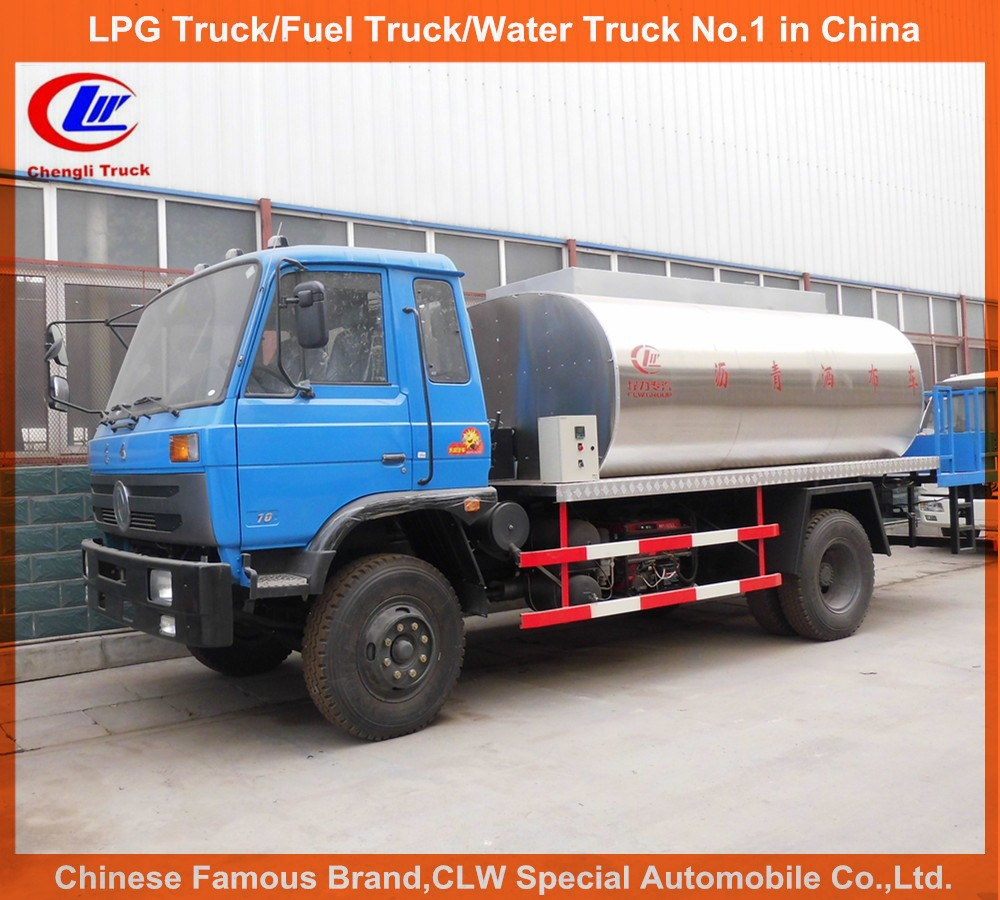 China trucks dongfeng construction road paver 4*2 8ton asphalt spraying truck