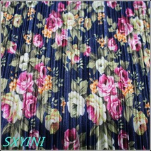 shaoxing YINI HOT SALE 100% Polyester printed crepe fabric crinkle fabrics for dress