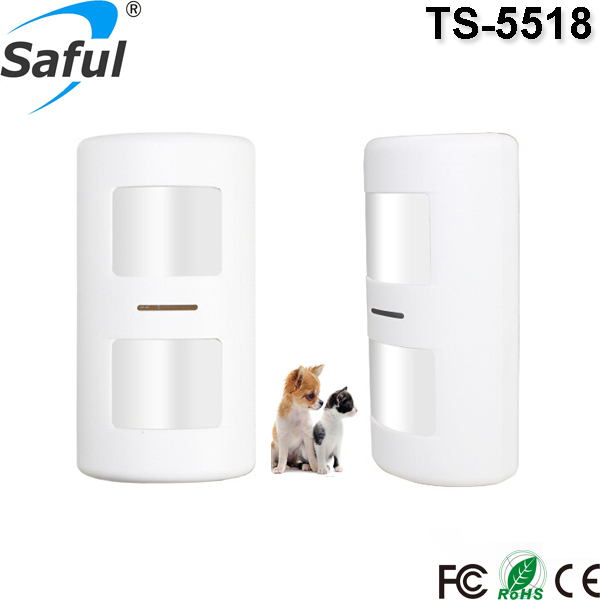 2015 new Waterproof Wireless outdoor TS-5518 pir passive infrared motion sensor with pet immune