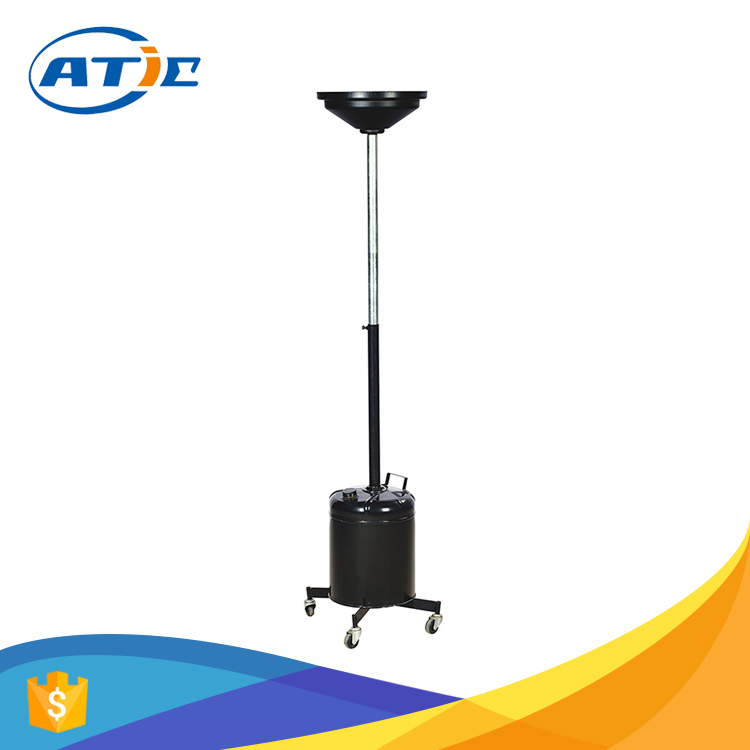Oil drain pan with adjustable tube, lightweight top class portable oil drain tank