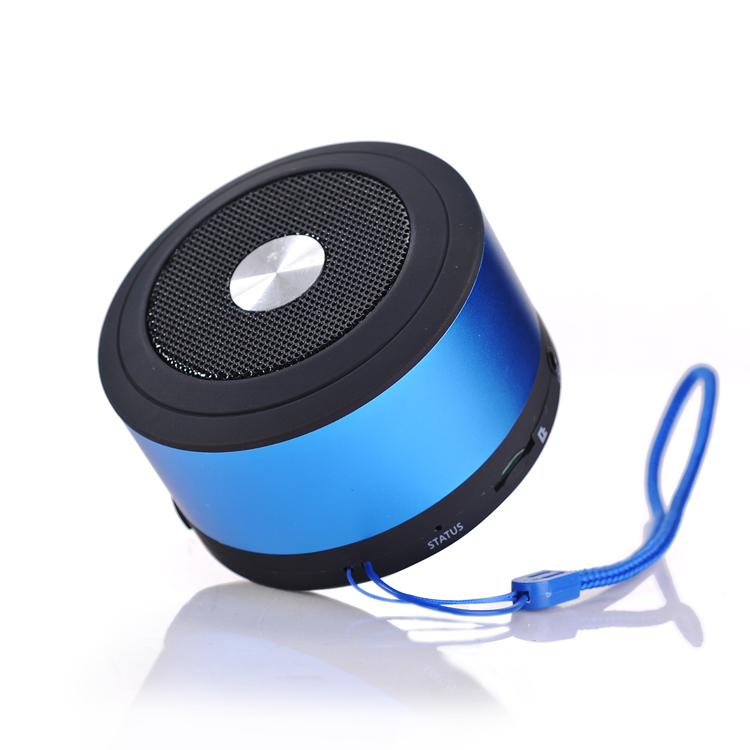 High quality super bass protable wireless metal bluetooth speaker with TF card