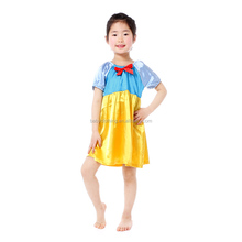 sweet girl party dresses princess satin frock cheap one piece party girls dresses
