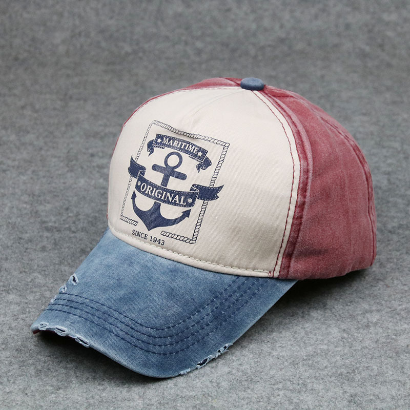 Printed anchor Baseball Caps Hats 5-Panel Outdoor sport Cap Hat Sun Hats Caps