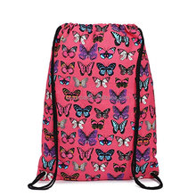 Travel Sports Portable Canvas Bag Custom Cute Drawstring Backpack Bag