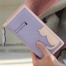hot sale leather clutch women cell phone holder card holder wallet cat wallet for ladies