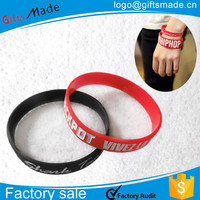 custom bulk very cheap rubber bracelet,silicone wrist band,super elastic silicone rubber bands