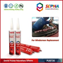 PU8730 directly used for bonding and replacing all kinds of auto glass puncture repair liquid tyre sealant gasket cement