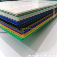 Cheap plastic panel building material hollow cross corrugated PP board