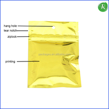 low cost custom printed foil laminated plastic zipper bag with see trough window