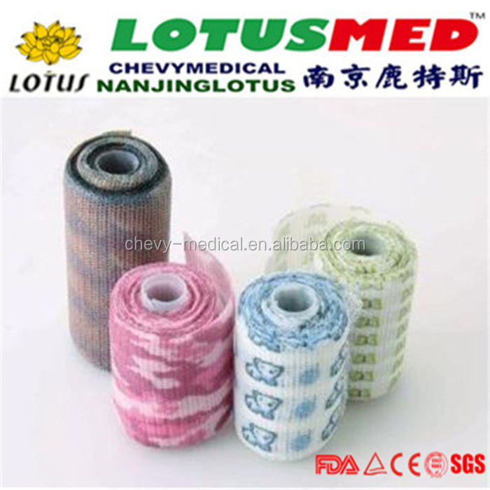 NANJING LOTUS High Quality Medical Bandage For Child Medical Elastic Bandage Sex Girl And Women Movies Flexible Latex