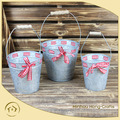 countryside style new design galvanized industrial french metal buckets