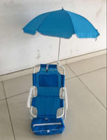 Kids beach chairs with umbrella foldable back