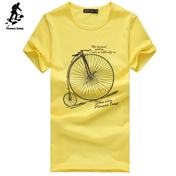 New coming all kinds of bicycle printed t shirt garment of karachi