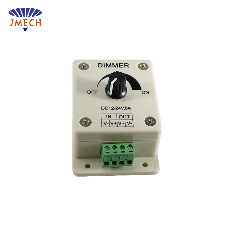 CE Rohs DC12v 8A 96W Min led lighting dimmer switch