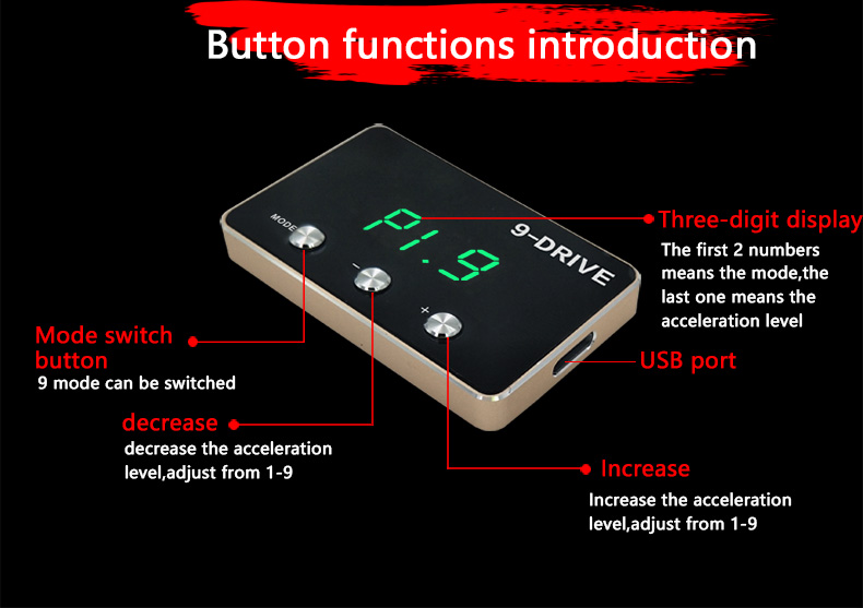 2017 Geyiren New Arrival 9-Drive Electronic Throttle Controller For Buick All Engines
