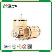 Small Decorative Mini Wooden Barrels For coffee Beans
