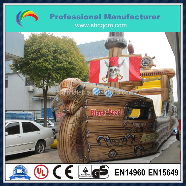 2016 commercial inflatable pirate ship,hot sale inflatable fun city for kids