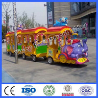 amusement park accessories trackless train rides for children