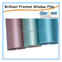 Removable static cling window frosted glass vinyl film
