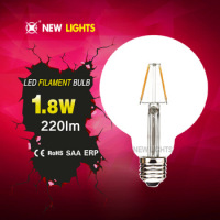 Wholesale Energy saver 2W 360 degree E27 Base G95 LED Filament Bulb